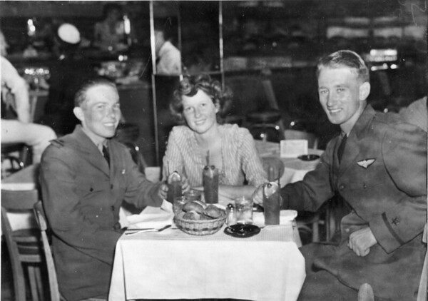 """Kokomo native Ensign Wright """"Billy"""" Hobbs, right. Hobbs was one of the last four men to die in World War II in the final Pacific air battle on August 15, 1945. Hobbs' story is the subject of a new book by John Wukovits called Dogfight Over Tokyo.<br /> Provided photo"""