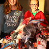 Dillon Heaton, 12, and Annabelle Heaton, 13, collected hats, gloves and other personal items to be given out at the Rescue Mission on December 17, 2019.<br /> Tim Bath | Kokomo Tribune