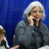 Michelle Livingston talks with the highest bidder of the Hope Doll, which went for $10,000 during the 2019 We Care telethon on Sunday, December 8, 2019.<br /> Kelly Lafferty Gerber | Kokomo Tribune