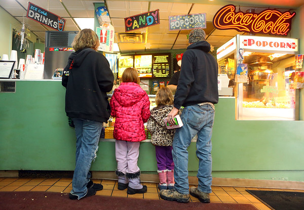 "Movie-goers stop by the concession stand for Diana Theatre's 93rd annual free Christmas movie, ""Wonder Park,"" in Tipton on Saturday morning, December 21, 2019.<br /> Kelly Lafferty Gerber 