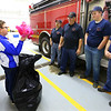 Ethan Wesner is a 6th grader at Tipton Middle School and has recently asked for a ton of stuffed animals for his birthday that he then delivered to fire and police. He drops a bag of them at Madison Twp. Volunteer Fire Department on December 27, 2019.<br /> Tim Bath | Kokomo Tribune