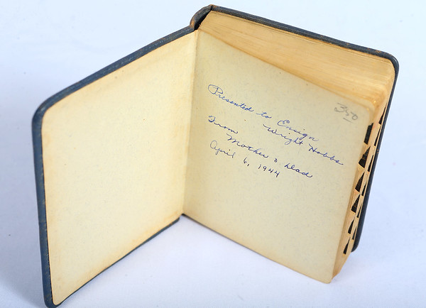 """A five-year diary that was given to Wright """"Billy"""" Hobbs from his mom and dad. Kokomo native Ensign Wright """"Billy"""" Hobbs was one of the last four men to die in World War II in the final Pacific air battle on August 15, 1945. Hobbs' story is the subject of a new book by John Wukovits called Dogfight Over Tokyo.<br /> Kelly Lafferty Gerber   Kokomo Tribune"""