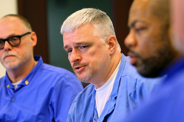 Stephen Sherwood, Sons of American Legion commande and other member of the American Legion Post 555 located at Miami Correctional facility with almost a 100 members talk about their involvement on December 5, 2019. <br /> Tim Bath | Kokomo Tribune