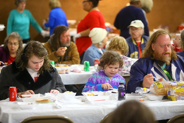 24th annual Favors Christmas dinner on Wednesday, December 25, 2019.<br /> Kelly Lafferty Gerber | Kokomo Tribune