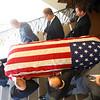 Pallbearers carry the casket of Tipton mayor Don Havens out of West Street Christian Church on Saturday, December 21, 2019.<br /> Kelly Lafferty Gerber   Kokomo Tribune
