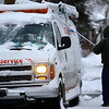 Snowfall on Monday morning slowed down the morning start only long enough for the cleanup by Jeff Duncan in the 700 block of South Union on Dec. 16, 2019. <br /> Tim Bath | Kokomo Tribune