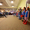 Girl Scout troop 560 in Greentown caroling at Century Villa in Greentown on December 17, 2019.<br /> Tim Bath | Kokomo Tribune