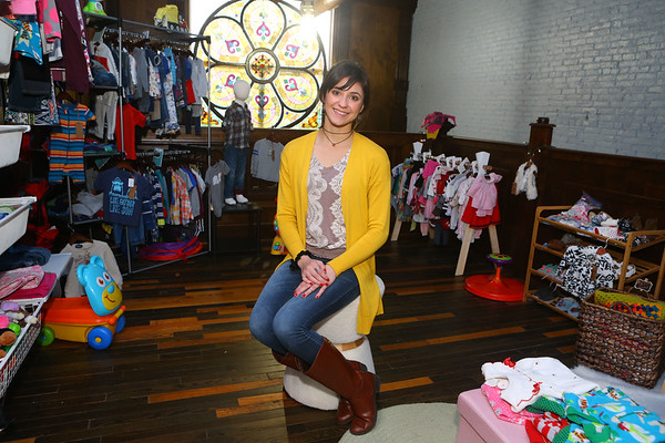 Marianela Balbian, owner of Little Hoosiers, a kid's resale shop, at 303 North Main Street on Tuesday, December 3, 2019.<br /> Kelly Lafferty Gerber | Kokomo Tribune