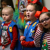 Kamryn Steele, NeVacha Lowry, Kynlee Miles and Mckynzie Chase and the rest of Girl Scout troop 560 caroling at Century Villa in Greentown on December 17, 2019.<br /> Tim Bath | Kokomo Tribune