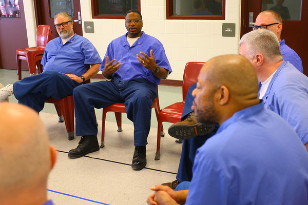 Willie Walton, AL Sgt. at Arms and other member of the American Legion Post 555 located at Miami Correctional facility with almost a 100 members talk about their involvement on December 5, 2019. <br /> Tim Bath   Kokomo Tribune