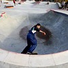 Freddie Johnson rides through the bowl at the City of Kokomo's newest skate park located at Foster Park opens to a big crowd on December 23, 2019.<br /> Tim Bath | Kokomo Tribune