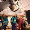 Eva Khatibi, 10, from Troop 480 in Russiaville, takes a closer look at the telescope at IUK's Observatory as part of earning her Space Science badge with other local Girl Scouts on Thursday, Jan. 17, 2019.<br /> Kelly Lafferty Gerber | Kokomo Tribune