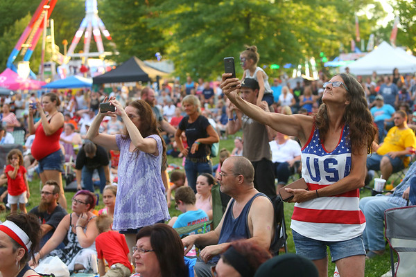7-4-19<br /> Thursday's Haynes Apperson Festival<br /> Foster Park was filled with people to watch Quiet Riot during the Haynes Apperson Festival on Thursday, July 4, 2019.<br /> Kelly Lafferty Gerber | Kokomo Tribune