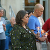 """Lights for Liberty, """"A vigil to end human concentration camps,"""" was an international event on Friday, July 12, 2019, to protest the conditions at migrant detention centers across the country. In Kokomo, participants walked from Sol House to the Howard County Courthouse.<br /> Kelly Lafferty Gerber 