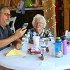 Mary Ransopher with 82 members of her family present celebrated 106 years of life on July 14, 2019. <br /> Tim Bath | Kokomo Tribune