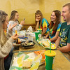 Austin Hewitt, right, laughs with his friends as they eat at the Subway in Greentown during their open lunch on May 3, 2019. <br /> Kelly Lafferty Gerber | Kokomo Tribune