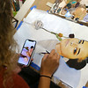Tori works on her latest painting in her art class on April 23 at Taylor High School.<br /> Kelly Lafferty Gerber | Kokomo Tribune
