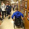 Alex Mula heads to class at Northwestern High School on April 25, 2019.<br /> Kelly Lafferty Gerber | Kokomo Tribune