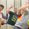 Austin Hewitt, center, dances and sings with the Encore Singers, Eastern High School's show choir, as they rehearse for their spring concert at Eastern High School on May 3, 2019.<br /> Kelly Lafferty Gerber | Kokomo Tribune