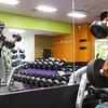 Tipton police officer Terence Napier works out at Tipton's Anytime Fitness on June 11, 2019. Napier is a bodybuilder and has won multiple bodybuilding competitions.<br /> Kelly Lafferty Gerber | Kokomo Tribune