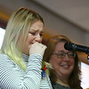 Kokomo High School senior Zara Hooper gets choked up as she shares stories about her tumultuous childhood during the Turnaround Achievement Awards breakfast on May 2. Zara was one of the recipients of the awards recognizing students for their efforts to make positive changes in their lives.<br /> Kelly Lafferty Gerber | Kokomo Tribune