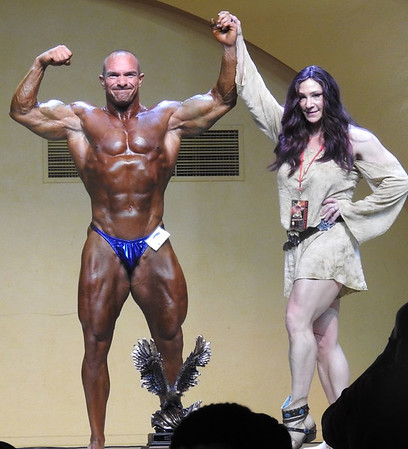 Terence Napier competes in the NPC Midway USA Championships in Wichita, Kansas last month. Photo Provided
