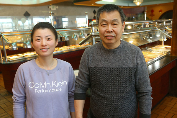 Great Wall Buffet manager Shan Lin, and owner Sheung Yuen Lam inside the restaurant on March 26, 2019. Kelly Lafferty Gerber | Kokomo Tribune