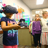 Arrayah Trilling, 6, plays a game using Virtual Reality during the Girls in Information and Communications Technology Day at the Kokomo-Howard County Public Library on Saturday, March 30, 2019.<br /> Kelly Lafferty Gerber | Kokomo Tribune
