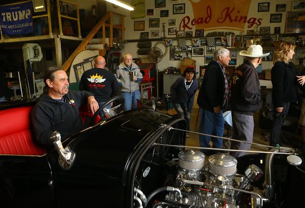 Daniel Smith takes a seat in the Greentown Road Kings' club build, a 1932 Ford Roadster, on April 27, 2019.<br /> Kelly Lafferty Gerber | Kokomo Tribune