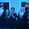 The women of the Little Black Dress event make their entrance to cheers and applause at Bel Air on Friday, May 3, 2019, to benefit the Domestic Violence Shelter.<br /> Kelly Lafferty Gerber | Kokomo Tribune