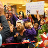 Northwestern Elementary second graders and teachers cheer as they win their tree for $1,030.50 during the We Care tree auction on Sunday, November 10, 2019.<br /> Kelly Lafferty Gerber | Kokomo Tribune