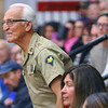 Veterans stand as they are being recognized during the Central Middle School Veterans Day Program on Monday Nov. 11, 2019.<br /> Tim Bath   Kokomo Tribune