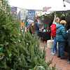 Customers buy hot cocoa at Z&C Farms Christmas Tree booth at the Peru Christkindlmarkt on Friday, November 29, 2019.<br /> Kelly Lafferty Gerber | Kokomo Tribune