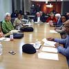 Kokomo City Council meeting on Monday Nov. 18, 2019.<br /> Members are Tom Miklik, Cynthia Sanders, Janie Young, Donnie Haworth, Mike Kennedy, Mike Wyant, Dara Johnson, and Bob Hayes during the pre meeting caucas.<br /> Tim Bath | Kokomo Tribune