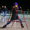 Rylei McCord tries to regain her balance while she uses an ice skating trainer on opening night of The Frozen Sandlot on Tuesday, November 26, 2019.<br /> Kelly Lafferty Gerber | Kokomo Tribune