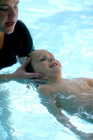 Taylor Elementary kindergarten students learn to swim at the YMCA on Thursday Nov. 14, 2019.<br /> Tim Bath | Kokomo Tribune