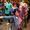 Mattie Huffer lets loose on the dance floor during Bona Vista's Let's Glow 80's Crazy Dance at UAW 685 on Friday, November 15, 2019.<br /> Kelly Lafferty Gerber | Kokomo Tribune