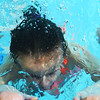Cali Shuck bobs in and out of the water practicing holding her breath as Taylor Elementary kindergarten students learn to swim at the YMCA on Thursday Nov. 14, 2019.<br /> Tim Bath | Kokomo Tribune