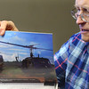 Roger Rayl talks about serving in combat during the Vietnam War on Nov. 8, 2019. This photo shows what it was like for him to be dropped in the jungle by a Huey.<br /> Tim Bath | Kokomo Tribune