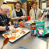 Kokomo Area Career Center students and Bona Vista consumers are partnering up to test food on Oct. 29, 2019, for the bona vista dance on Nov. 15.<br /> Tim Bath | Kokomo Tribune