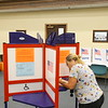 Kellie Estep casts her vote on the first day of early voting at the Howard County Government Center at Mulberry and Union Streets on Oct. 8, 2019.<br /> Tim Bath | Kokomo Tribune