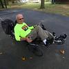 Ken Dulla recently celebrated his 87th birthday by biking 87 miles. Getting ready for a ride on Oct. 4, 2019.<br /> Tim Bath   Kokomo Tribune