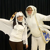 Aexandra Eisaman from Peru as Momo from Avatar: The Last Airbender and Isabel Hughes from Wabash as Appa from Avatar: The Last Airbender at Kokomo-Con on Saturday, October 12, 2019.<br /> Kelly Lafferty Gerber | Kokomo Tribune