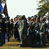 """Law enforcement pays their respect to Indiana State Trooper Peter """"Bo"""" Stephan, who was laid to rest at Russiaville Cemetery on Friday, October 18, 2019. Stephan died Oct. 11 in a car crash on Old Indiana 25 southwest of Americus. He was responding to a call when he lost control of his car.<br /> Kelly Lafferty Gerber 
