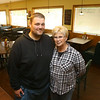 Will Kemper, left, and his mom Kaye Kemper, right, shown in the restaurant on October 17, 2019, are the new owners of Izzy and Eddy's in Tipton.<br /> Kelly Lafferty Gerber | Kokomo Tribune