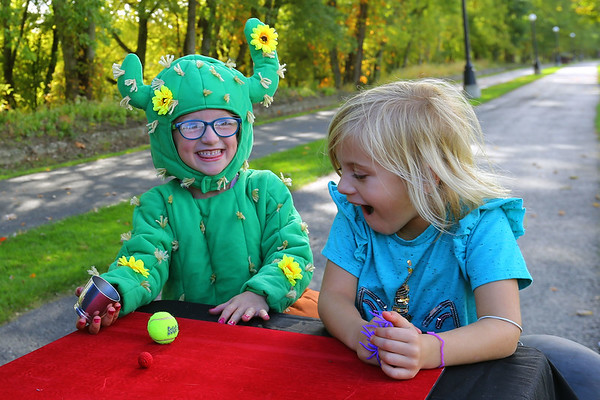 Harvesting Capabilities Park or HC Park in Peru was built for all but is mainly for those with disabilities. The All inclusive playground is along Peru riverwalk, west of Miami Fort playground. An open house on Saturday brought out kids mostly wearing costumes on Oct. 19, 2019. <br /> Tim Bath | Kokomo Tribune