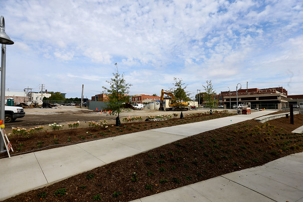 Site of the downtown hotel between Union and Main Street on the Wildcat Creek on Oct. 10, 2019. <br /> Tim Bath   Kokomo Tribune