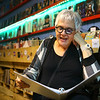 Nancy Salmon reads a cookie liturgy during Beer and Hymns night at American Dream Hi Fi on Wednesday, October 9, 2019.<br /> Kelly Lafferty Gerber | Kokomo Tribune