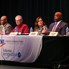 Kokomo City Council At-Large candidate Tony Stewart, second from right, answers a question at the debate on Thursday, October 3, 2019, alongside fellow candidates, from left: Matt Grecu, Bob Hayes, Mike Kennedy, Kara Kitts-McKibben, and far right Matt Sedam.<br /> Kelly Lafferty Gerber   Kokomo Tribune