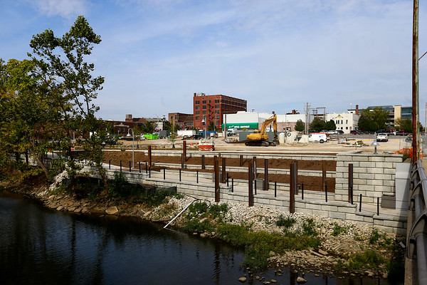 Site of the downtown hotel between Union and Main Street on the Wildcat Creek on Oct. 10, 2019. <br /> Tim Bath | Kokomo Tribune